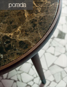Porada Bigne Table in Emperador Dark