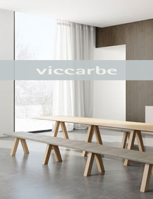 Viccarbe Trestle Bench in Solid Oak