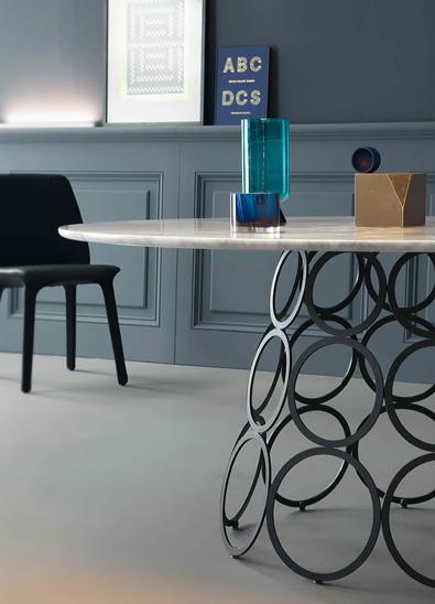 metal design furniture. Bonaldo Hulahoop Round Detail Metal Design Furniture