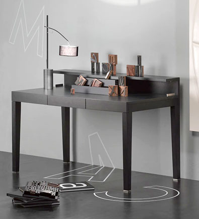 modern furniture lighting spencer interiors desks consoles. Black Bedroom Furniture Sets. Home Design Ideas