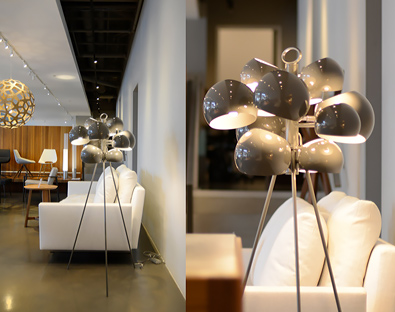 David Weeks, Kopra Standing Lamp in Grey Gloss