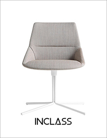 INCLASS Dunas XS Chair with four star flat swivel base