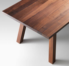 Lando Accento Table in solid Walnut