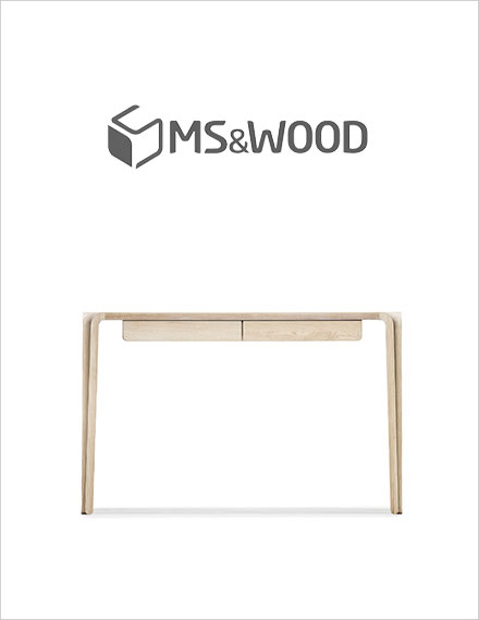 MS&Wood Primum Desk in solid Oak