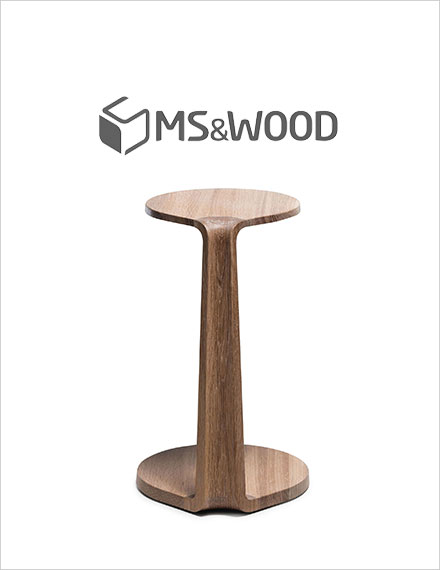MS&Wood Primum Oval Side Table