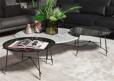 Vibieffe Cross low tables, modern furniture Vancouver