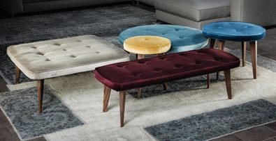 Vibieffe Pancake Ottomans, modern furniture Vancouver