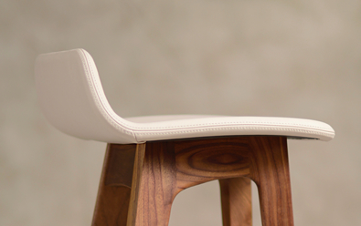 Zeitraum Morph stool, fully upholstered detail