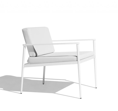 Bivaq Vint Low Armchair, Pearl White Vinytex