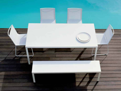 Bivaq Dats Table in White