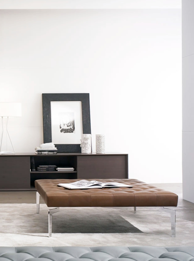 Casadesus Diamond Ottoman, modern furniture Vancouver