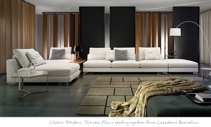 The Flavio seating system from Casadesus Barcelona, modern furniture Vancouver