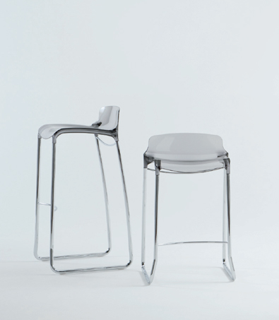 Casprini Tiffany Stools in Transparent