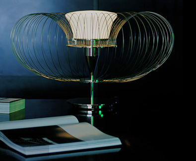 Luminara Steel Flower table lamp