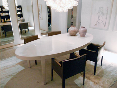 Meridiani Power Oval Table Lacquer