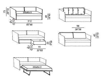 Fox Twin Bed drawings