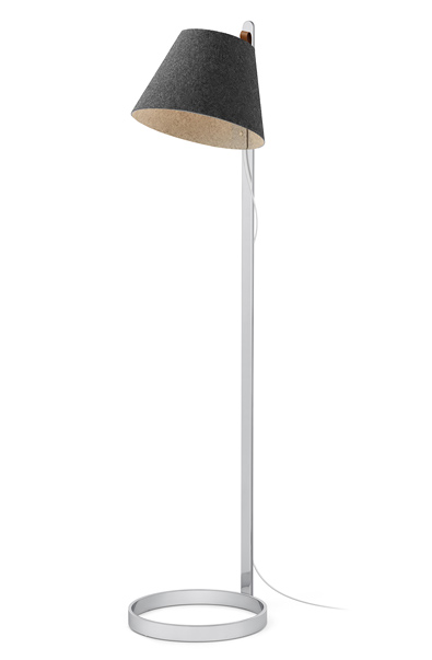 Pablo Lana Floor Lamp, Charcoal