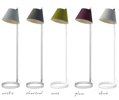 Pablo Lana Floor Lamp shade colors