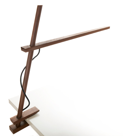 Pablo Clamp lamp in Walnut