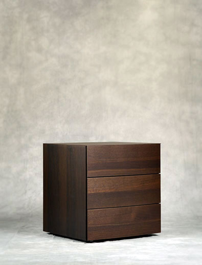 Pianca Arco nightstand in Burnt Oak