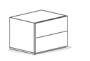 People 2 drawer nighstand width 52 cm