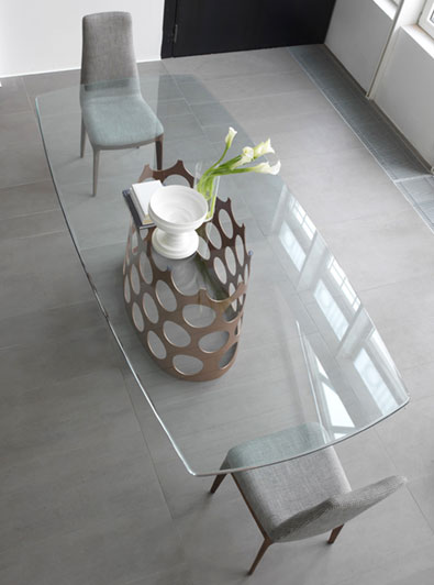 Porada Jean Table in Glass