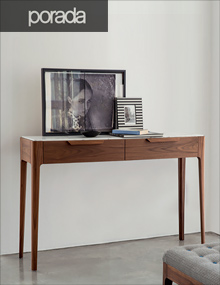 Porada Ziggy 10 Console in Walnut and Calacatta Gold Marble