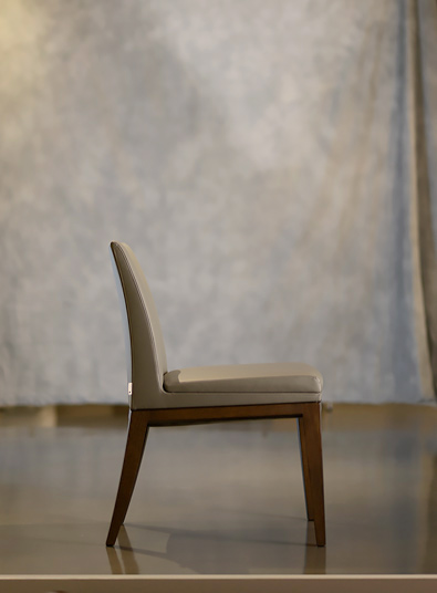 Potocco Elide Chair in Grey leather
