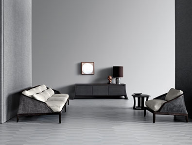 Potocco Grace Sofa and Lounge Chair