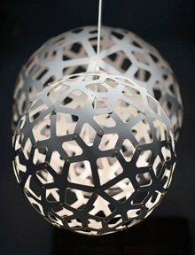 David Trubridge Coral Lamps, White