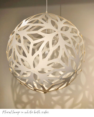 David Trubridge Floral Lamp White 