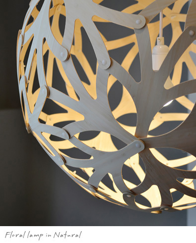 David Trubridge Floral lamp in Natural, Modern Lighting Vancouver