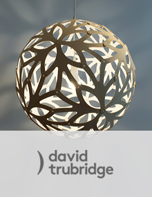 David Trubridge Floral Natural, Inside White